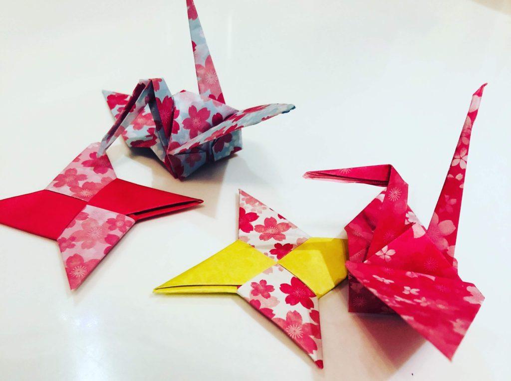折り鶴(海外で紹介した和のアクティビティ)